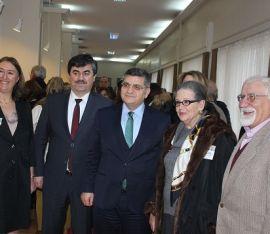 Nüzhet Gökdoğan'ın kızı Prof. Gönül Gökdoğan, Prof.Dr.Dursun Koçer , Kaymakam Dr. Mustafa Özraslan , Elif Sungur